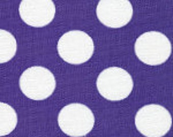HALF YARD Purple and White Dot Fabric Finders Cotton Fabric