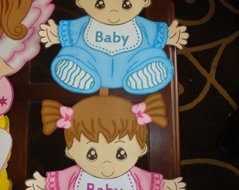 cute babyshower decorations-foamy babies