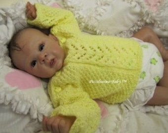 "knitting pattern for a 16-18""/40-45cm easy sweater preemie reborn baby ooak"