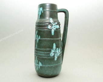 West German pottery vase by Scheurich 275-20 Green