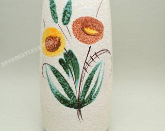 West German ceramic  vase by Scheurich 203-32 flower decor