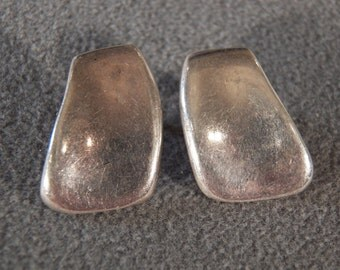 Vintage Sterling Silver Art Deco Earrings                         M
