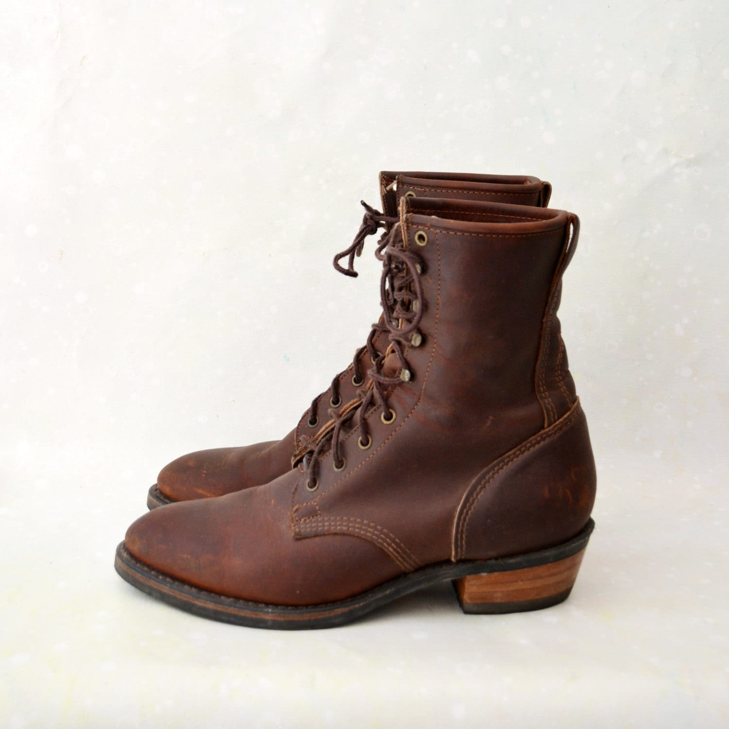 mens lace up roper boots chocolate brown durango us