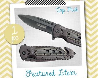 Groomsmen Gift 1 PERSONALIZED Knife Engraved Knife Engraved Pocket Knife Hunting Knife Rescue Knife Custom Groomsman Gifts Gift for Men