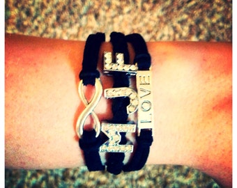 Infinity Love with 3 Initials
