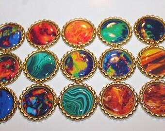 Geocache Coin Bottle Caps For Swag Trade Items - Precious Stones
