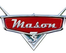 Personalized Disney's Cars Logo wiith name and age high-resolution image (digital file or printed card/poster)