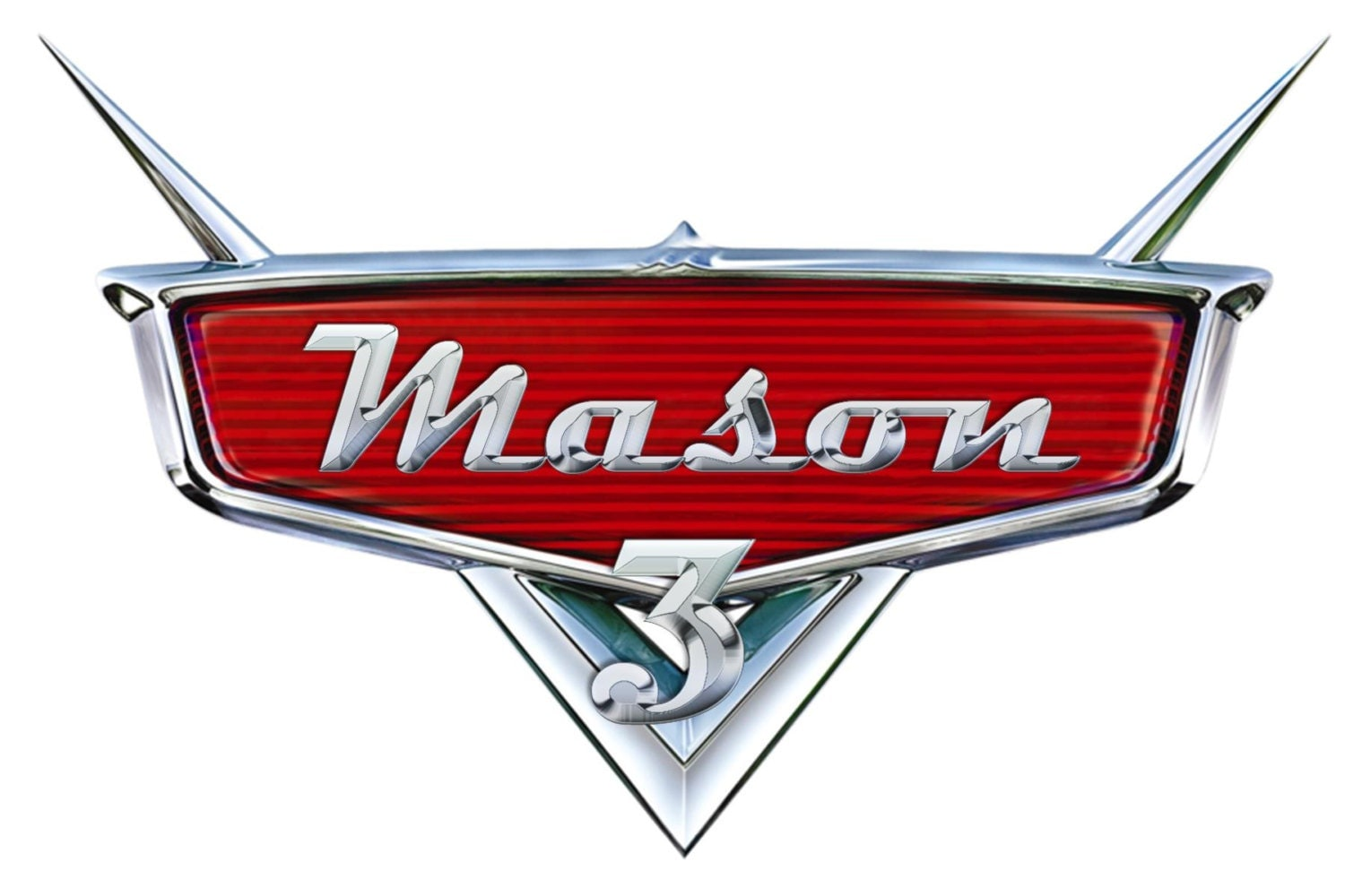 personalized disney s cars logo wiith and age 128270zoom