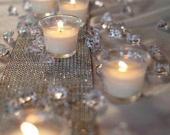 Table Runner Diamond Mesh, Rhinestone Mesh - Wedding / Event Supplies