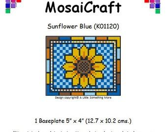 MosaiCraft Pixel Craft Mosaic Art Kit 'Sunflower Blue' (Like Mini Mosaic and Paint by Numbers)