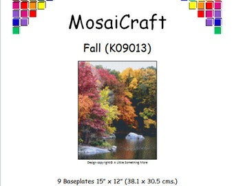 MosaiCraft Pixel Craft Mosaic Art Kit 'Fall' (Like Mini Mosaic and Paint by Numbers)