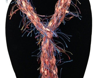 Hand Woven Skinny Scarf - Featuring Multiple Ways to Wear #1011