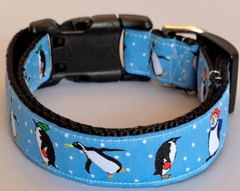 ADORABLE PREPPY PENGUINS Dog Collar - Leash Sold Separately