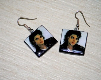 Michael Jackson Earrings Polymer Clay Hand Made With Love