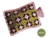 Instant Download - Crochet Pattern - Hot Water Bottle Cover Lilac Granny - PDF ebook No. 46