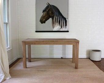 Reclaimed Wood Parsons Desk, Solid Wood Desk