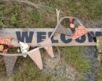 Harvest Bunting Pennant Banner, Fall Pennant Banner, Autumn Pennant Banner, Pumpkin Pennant Banner