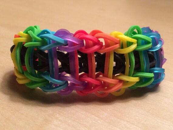 Items similar to Rainbow Loom - Rainbow Ladder Bracelet ...