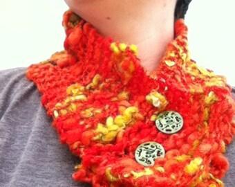 hand knit NECKWARMER