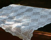 handmade table runner/crochet doily/four leaf clover patter doily/  table runner /four leaf clover/irish luck - emymade