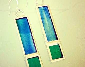 Handcrafted Stained Glass Earrings