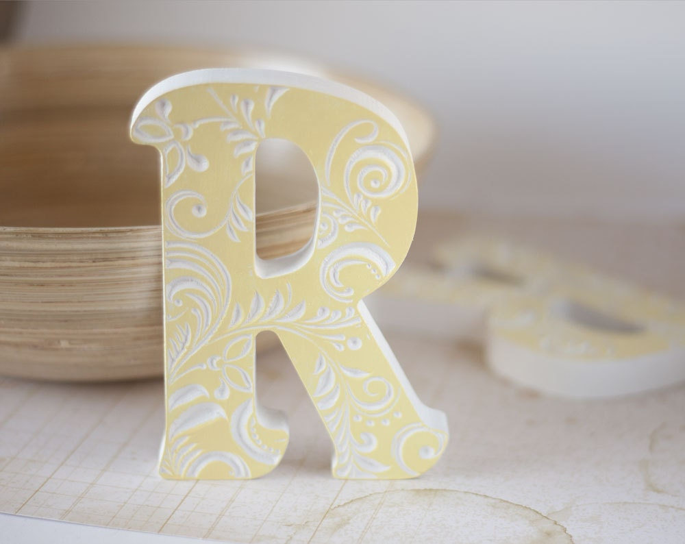Wooden letters for nursery letter baby nursery letter wood for Alphabet decoration