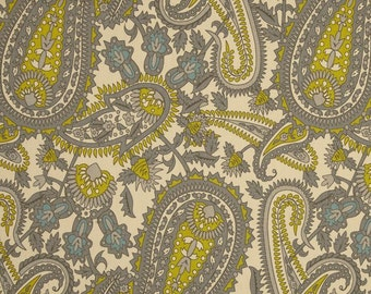 1/2 Yard Fabric- Premier Prints Henna- Summerland/Natural Paisley