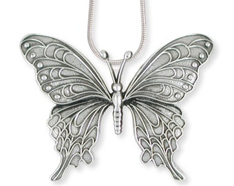 Solid Sterling Silver Butterfly Chain Slide Jewelry  BY5-P