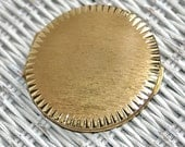50s Stratton Compact Goldtone Loose Powder Compact Made in England MCM Brushed Metal Finish - KickassStyle