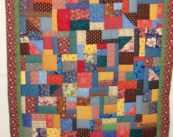 Handmade Patchwork Quilt, Excellent Fall Colors