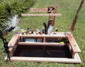 Portable Handcrafted FLY TYING TABLE/Jewelry Making bench desk fly fishing