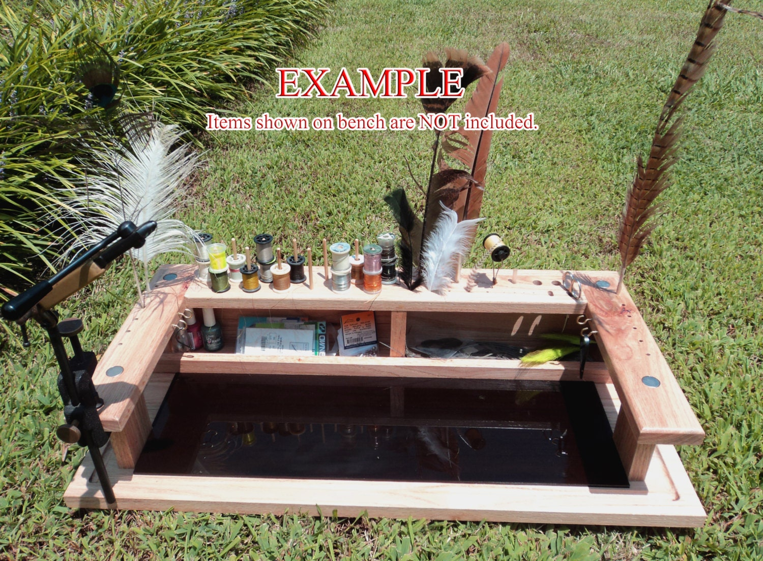 Portable Handcrafted Fly Tying Table Jewelry Making By Woodnchips