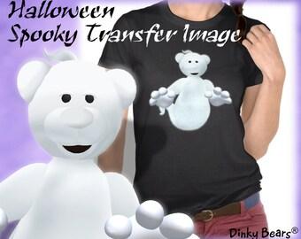 Dinky Bears Ghost Transfer Image - Digital Download