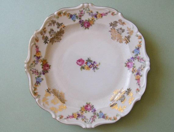 vintage schirnding bavaria porzellan china plate deutschland. Black Bedroom Furniture Sets. Home Design Ideas