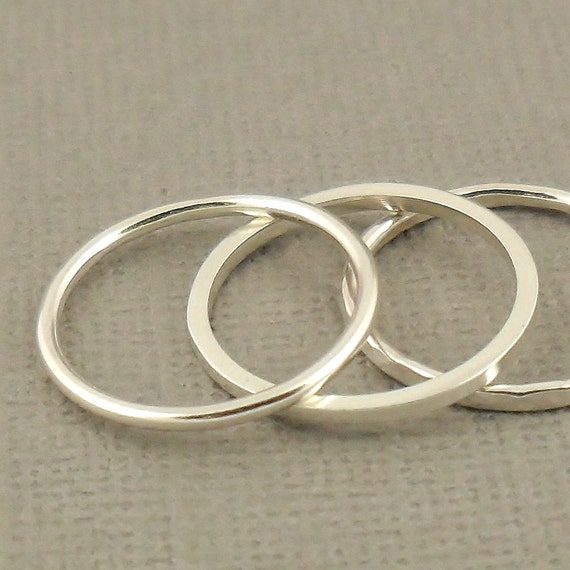 sterling silver knuckle ring set of three stacking ring