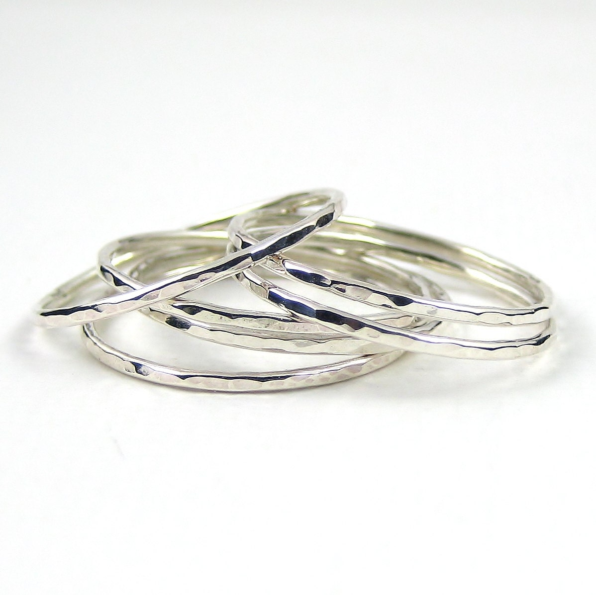 sterling silver ring set of six stacking ring knuckle ring
