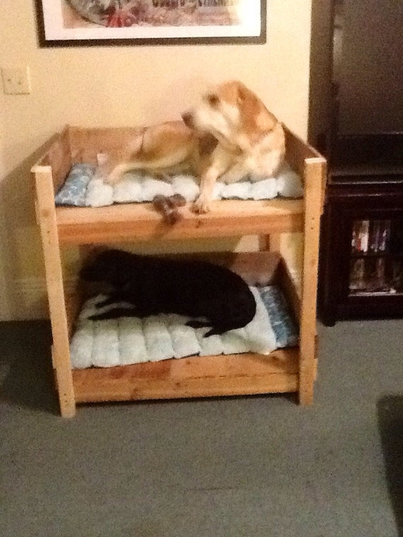 Rustic pet bunk beds small by sameasnever on etsy for Pet bunk bed gallery