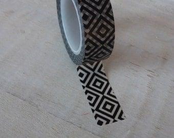Gold and white washi tape gold geometric design by for Geometric washi tape designs