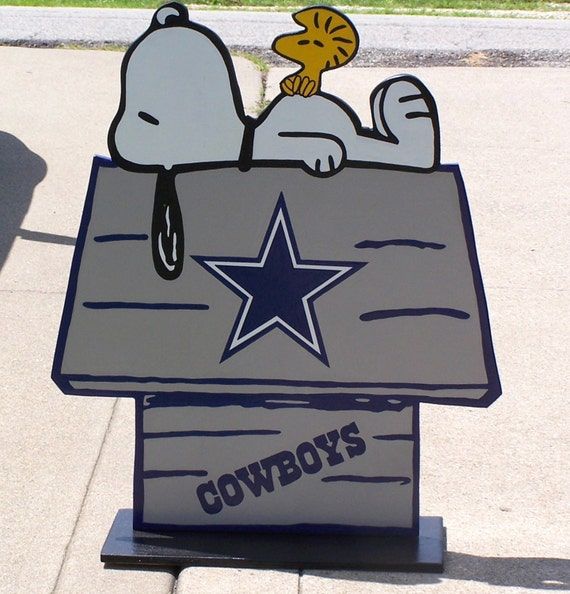 Dallas cowboys football snoopy peanuts wood decor sign doghouse with