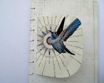 Artist  book, Coptic stitch book, hand bound book,writers gift, Book Art