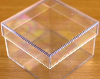 15 x Square Shaped  Fillable Transparent Plastic Containers Gift Boxes