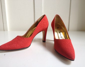 Fabulous Red Pumps by Nina made in Spain Size 6