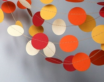 Paper garland - Birthday Decorations - Circle garland - Photo props - Bridal shower decorations - Hanging ceiling decorations, Nursery decor