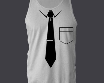 NECKTIE TIE FUNNY tanktop or sleeveless t-shirt your choice tank top