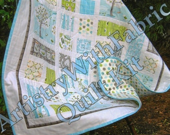 BACKYARD BABY Quilt KIT 39 x 39 Best Seller--Ready to Ship--fabrics & pattern