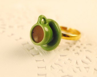 coffee cup ring - food jewelry