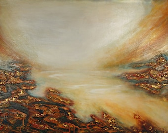 Water Flow - Abstract Limited Edition Painting on Canvas