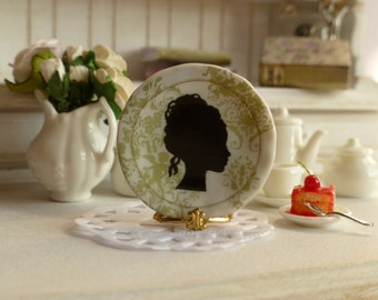 Mademoiselle Silhouette Plate for Dollhouse