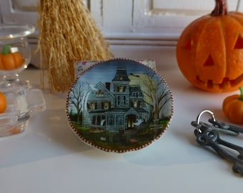Haunted House Dollhouse Plate