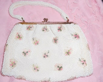 Vintage Bead and Embroidered Evening Bag